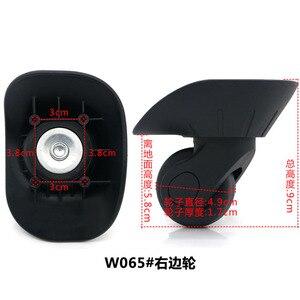 Image 3 - 1 para DIY wymiana koła bagażowe do walizek naprawa ręczna kółka Spinner części wózek gumowy bagażnik czarny W06