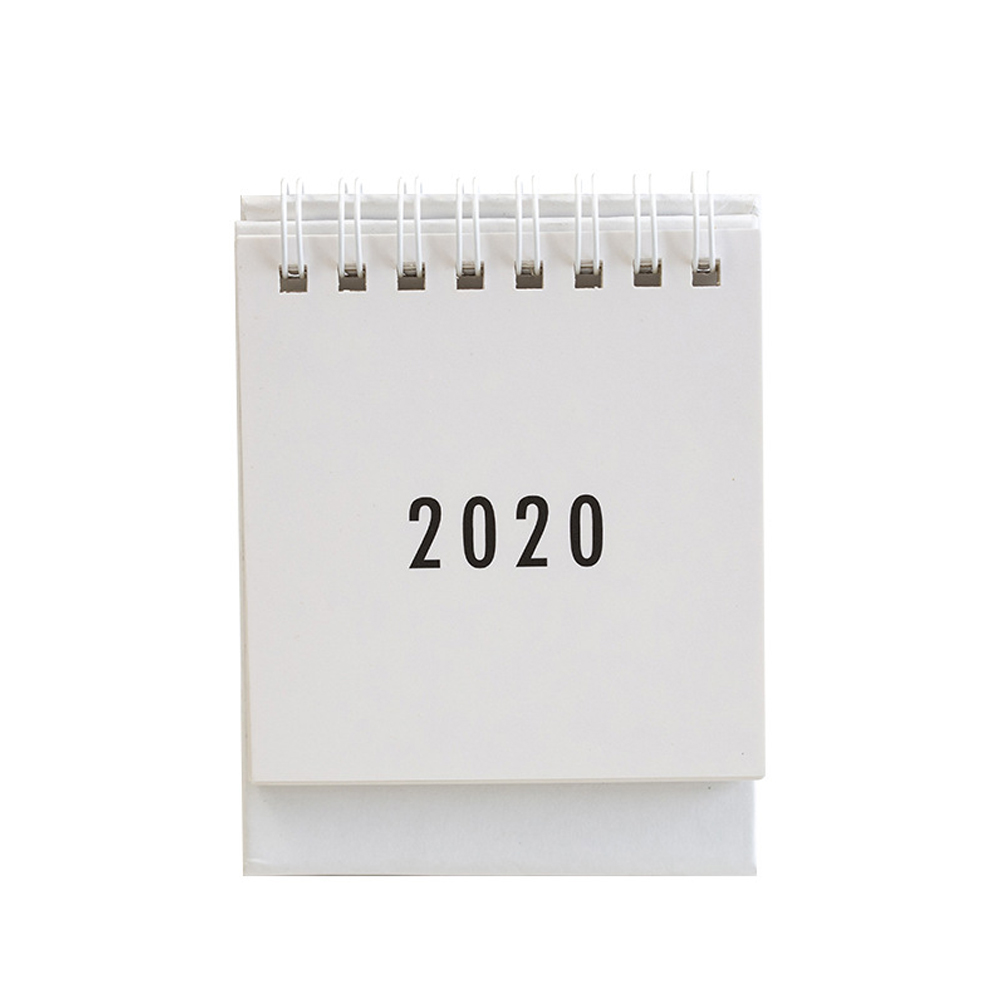 2020 Desk Study To Do List Monthly Portable Agenda Home Plan Schedule Metal Coil Table Calendar School Daily Planner Gift Mini