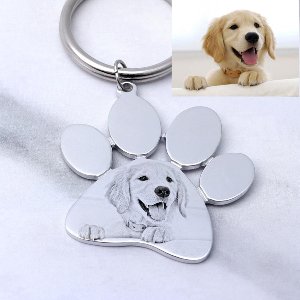 Personalized Dog Keychain,Custom Photo Keychain,Engraved Pet Photo Keychain,Pet Lover Gift, New Year Gift