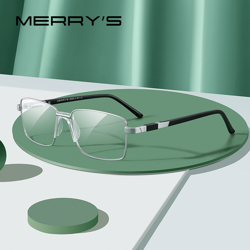 MERRY'S Men Titanium Alloy Glasses Frame Classic 2020 Business Style Ultralight Male Full Optical Eyeglasses Frames S2189
