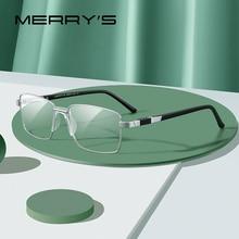 MERRYS erkekler titanyum alaşımlı gözlük çerçeve klasik 2020 iş tarzı Ultralight erkek tam optik gözlük çerçeveleri S2189