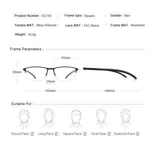 Image 4 - MERRYS DESIGN Men Titanium Alloy Glasses Frame Half Optical Frame Myopia Prescription Optical Eyewear Alloy Rubber Temples S2158