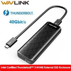 Intel Zertifiziert Thunderbolt™3 NVME Externe SSD USB Typ-C 40Gbps Ausgezeichnete Ableitung Für Microsoft Windows & Mac OS Wavlink
