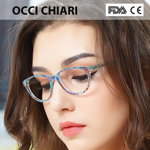 Image 2 - OCCI CHIARI Clear Glasses Frame For Girls Child Kid Anti blue Light Eyeglasses Brand Designer Acetate Computer Eyewear W CANZI