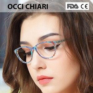 Image 2 - Occi Chiari Clear Glazen Frame Voor Meisjes Kind Kid Anti Blauw Licht Brillen Merk Designer Acetaat Computer Eyewear W CANZI