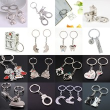 Keyrings Keychain Desk-Sets Couple Metal Stationery Arrow Bow Gift Silver-Alloy School