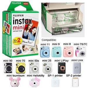 Image 2 - 50pcs feuilles Fujifilm Instax Mini Film pour Mini LiPlay 11 9 8 7s 25 70 90 appareil Photo instantané Mini lien Pinter blanc bord Photo papier