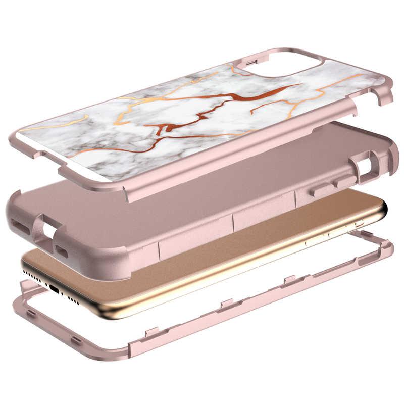 Untuk Iphone Kasus 11 Pro Max Case Cover Marmer Ponsel Tas Floral Bermotif Capa Shockproof Hard Coque Dicetak Bunga funda