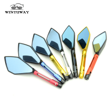 WINTUWAY CNC Aluminum Motorcycle Rearview Mirrors Blue Glass Rear View Side Mirror Universal Motorcycle Side Mirrors