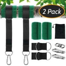 Kit de pêche à la ligne avec crochet, capacité de charge de 550kg, balançoire d'extérieur, équipement de suspension d'arbre, avec sangles, mousquetons, accessoires de balançoire de Camping