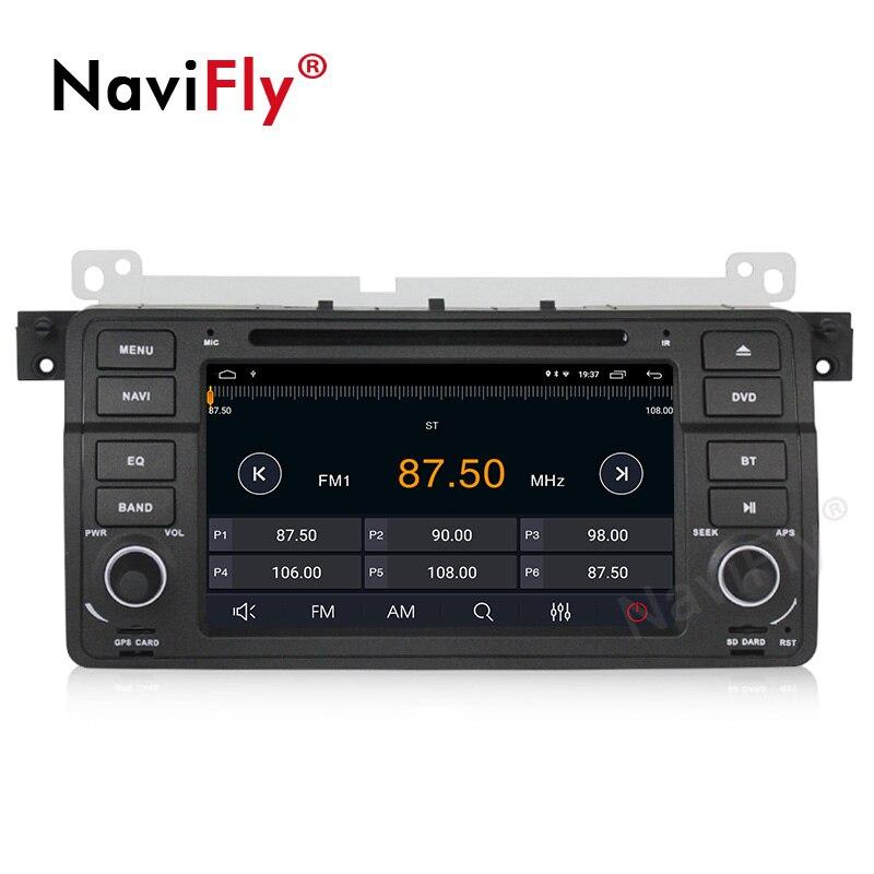 NaviFly Android 9.1 autoradio dvd gps pour BMW série 3 E46 M3 1998 2005 système stéréo unité de tête WIFI BT 2 + 32G lecteur multimédia - 5