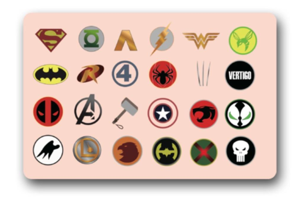 Avengers Logo Mats Justice League