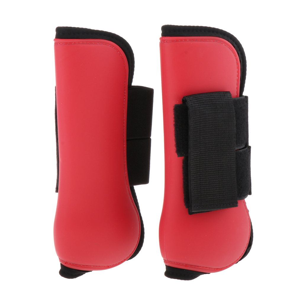 1 Pair Adjustable Tendon Boot / Fetlock Boots Breathable for Riding Eventing