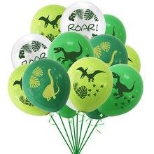 Dinossauro festa balões dino selva selvagem animal festa rugido látex balão crianças aniversário do chuveiro do bebê decoração suprimentos