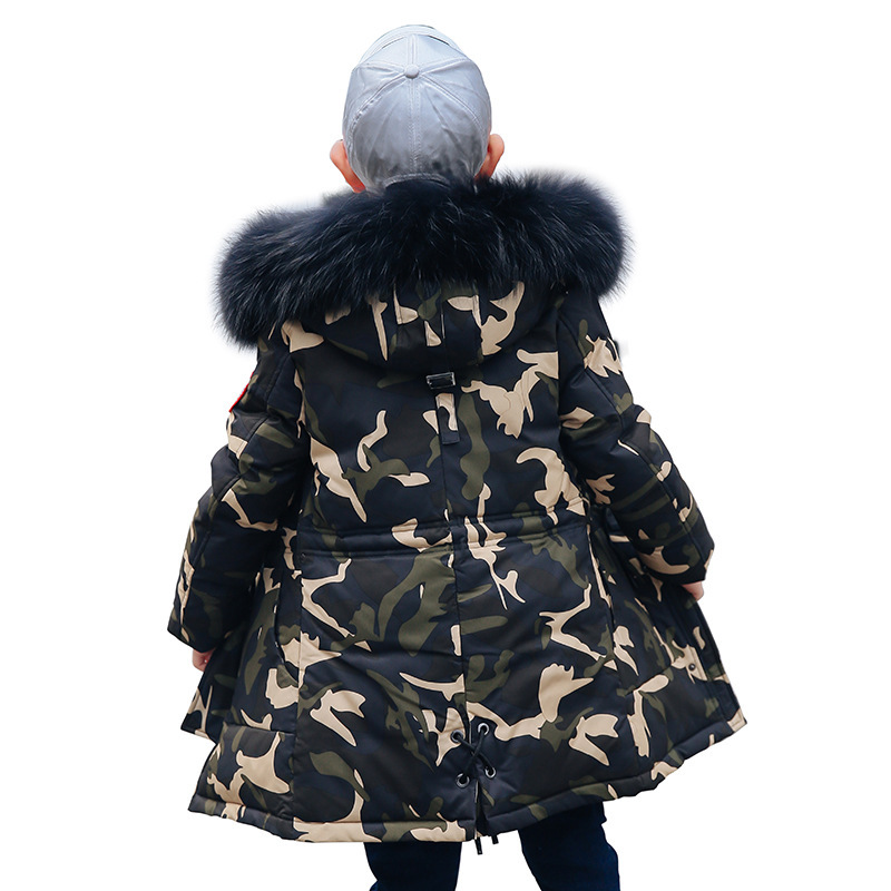 Garments 2019 New winter jacket Boys' duck down jackets Thickened Camouflage Babies' down outerwear parka Children's Garments image
