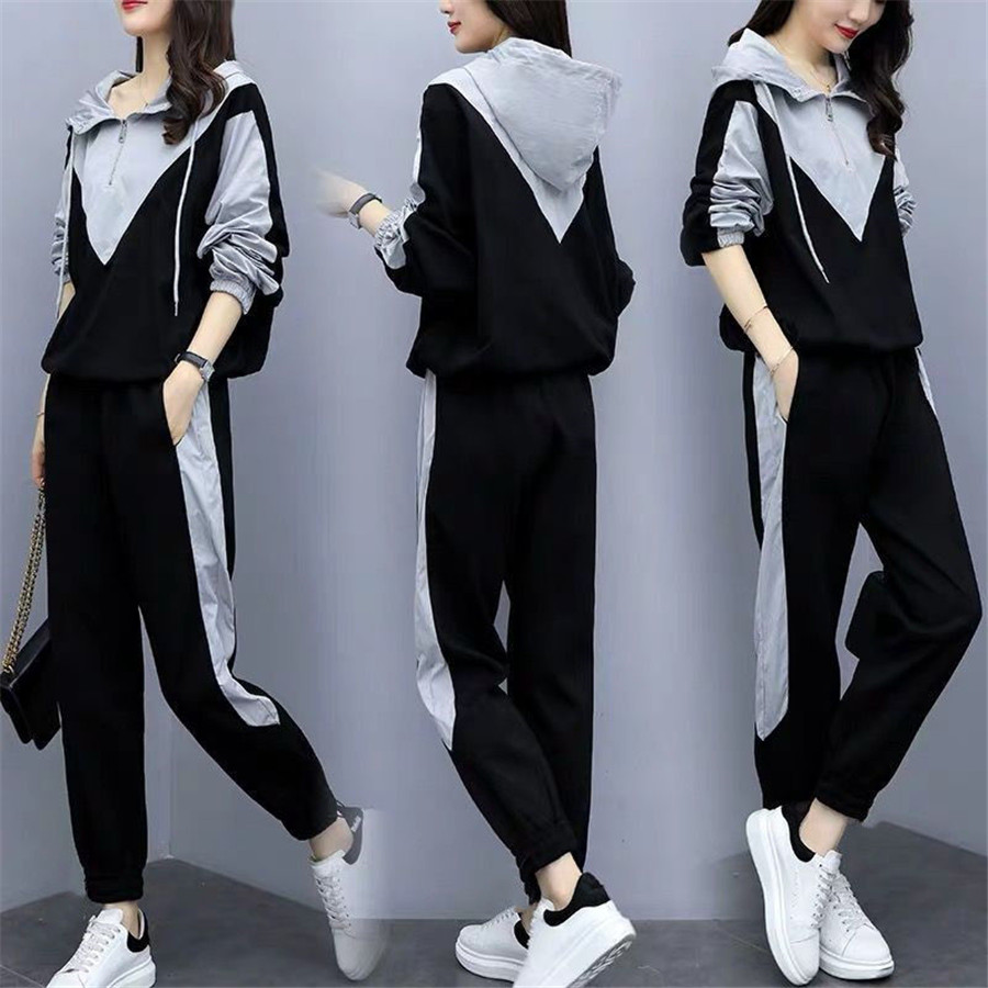 Tracksuit For Women Two 2 Piece Set Outfits Plus Size Large Winter Autumn Top And Pant 2pcs Clothes