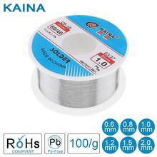 Kaina Filo di Saldatura 0.5/0.6/0.8/1/1.2/1.5/2.0 millimetri Filo di Stagno 100g 60/40 FLUX 2.0% di Latta per la Saldatura Senza Piombo della Saldatura per Alluminio