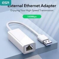 ESR USB 2.0 Ethernet Adapter scheda di rete a RJ45 Lan per Xiaomi Box per Windows 10 PC per nintendo Switch Ethernet 100Mbps USB