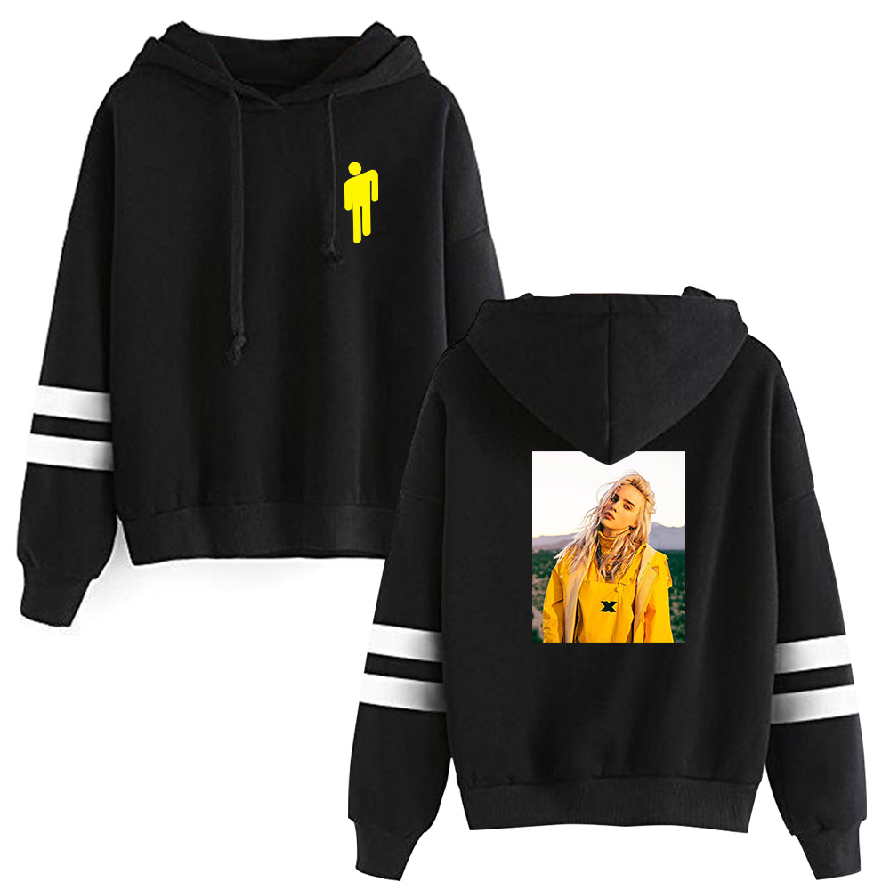 2019 Billie Eilish Hooded Sweatshirts Billie O'Connell Hot Sale Hoodie Bad Guy Long Sleeve Women Pullover Hoodies Casual Clothes