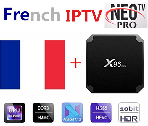 X96 Мини Android box с Neo tv французский арабский Enghlish TV live TV 4k TV US UK x96mini Smart tv image
