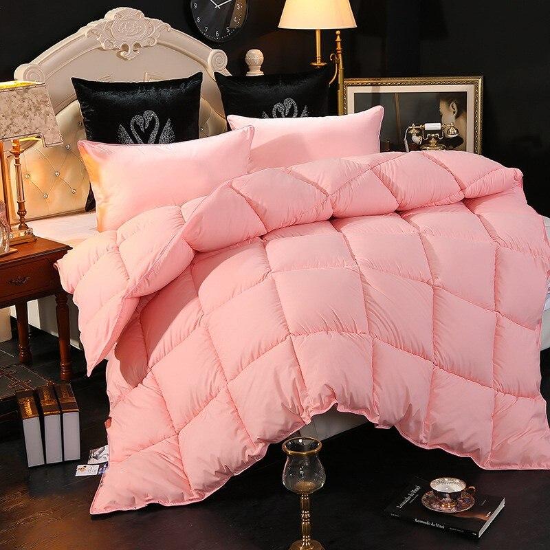 Rosa quilt core luxo houseware engrossar manter quente colcha de algodão confortável respirável king size consolador pequeno estilo fresco