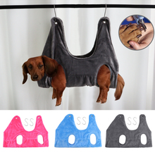 Soft Dog Cat Hammock Helper Harness Small Medium Dogs Cats Restraint Bag Convenient Pet Grooming Tool for Bathing Nail Trimming