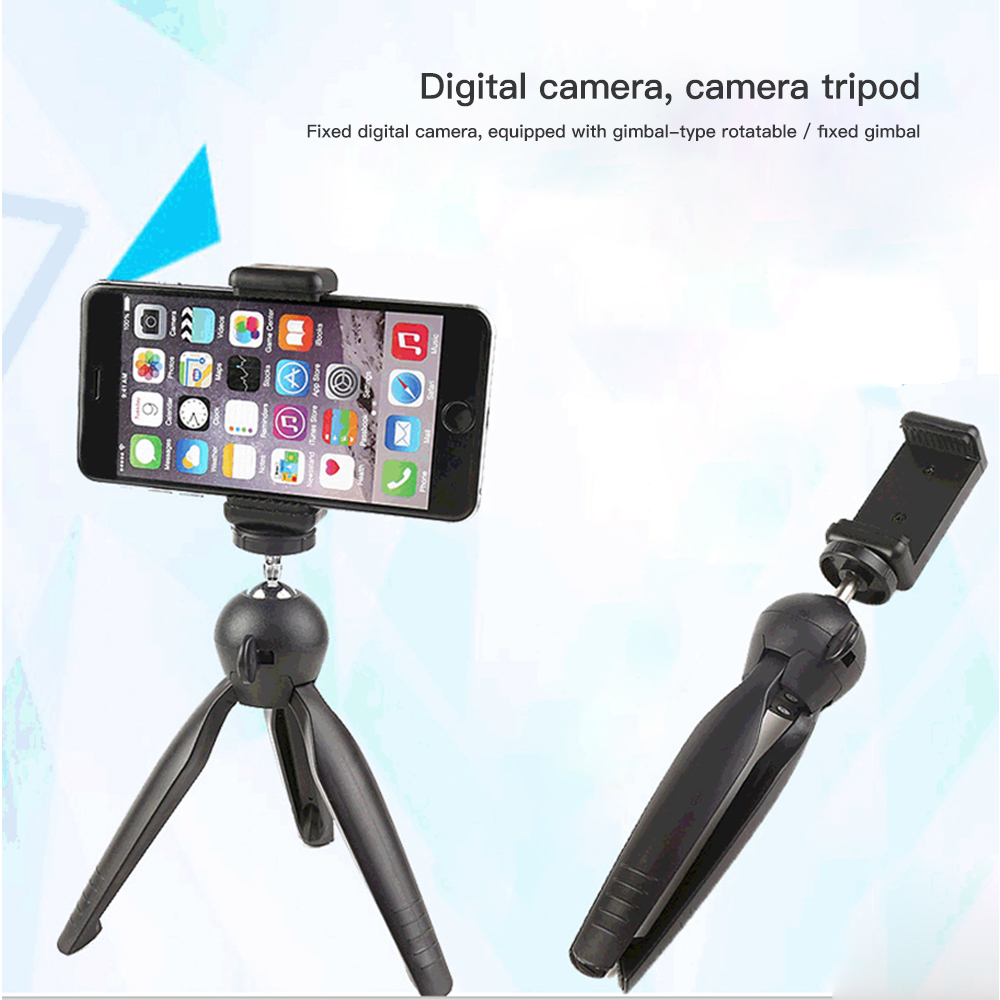 2020 Newest Mini Desktop Little Phone Stand Tabletop Tripod For Vlog Mirrorless Camera Smart Phone With Detachable Phone Holder