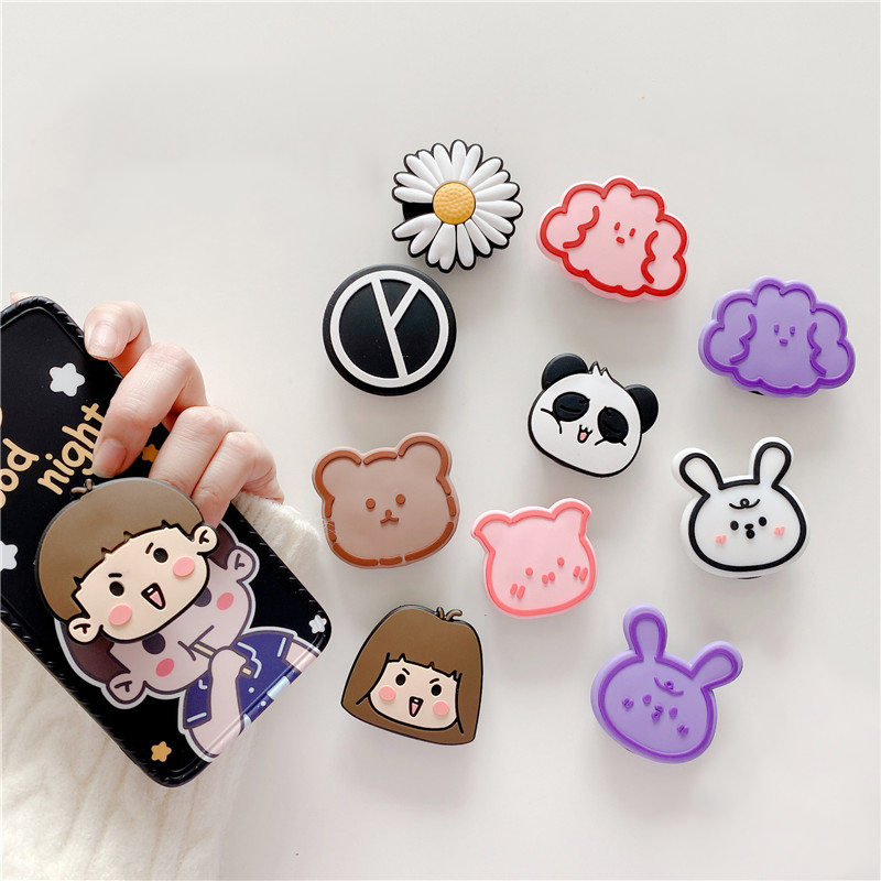 Cute Daisy Folding Stand For Mobile Phone Holder For IPhone 11 Pro IPAD For Samsung For Huawei Phone Case Cartoon Grip Kichstand