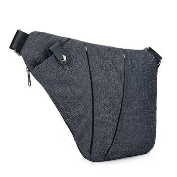 Slymaoyi mężczyźni Travel Business torba Fino torba antywłamaniowa torba etui z zabezpieczeniem przeciw kradzieży pasek bezpieczeństwa pamięć cyfrowa torba na klatkę piersiową