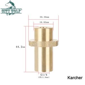 Image 3 - high pressure car washer brass adaptor snow foam gun metal lance joint for Karcher Lavor Huter AR Makita Interskol Bosche Alto