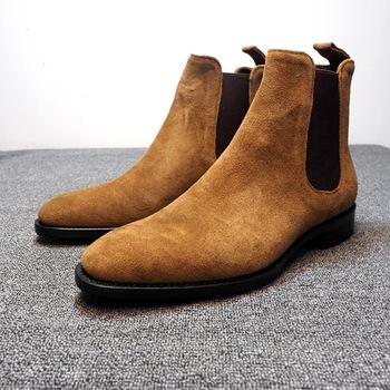 Mężczyźni Martin buty wysokiej jakości Chelsea Boots męskie skórzane buty moda mężczyźni buty trekingowe podeszwa mężczyźni przypadkowi buty motocyklowe tanie i dobre opinie SONDR CN (pochodzenie) Szycia Stałe Mesh Wiosna jesień NE2019 -818 Lace-up Niska (1 cm-3 cm) Pasuje prawda na wymiar weź swój normalny rozmiar
