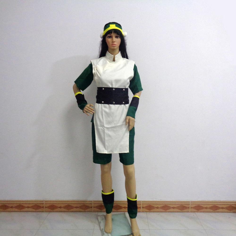 Avatar Die Last Airbender-fall Toph Bei Fong Weihnachten Party Halloween Uniform Outfit Cosplay Kostüm Fertigen Jede Größe