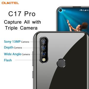 "Image 3 - Oryginalny OUKITEL C17 Pro 6.35 ""19:9 Android 9.0 telefon komórkowy MT6763 octa core 4G RAM 64G ROM odcisk palca 4G 3900mAh Smartphone"