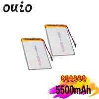 Baterías de litio de polímero lipo con módulo de carga PCB, recargables, Premium, 2/4, 606090 V, 3,7 mAh, 1/5500 Uds. Por lote