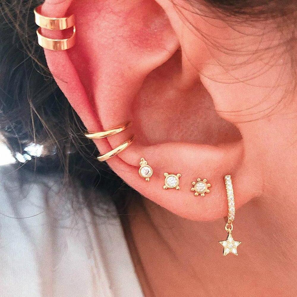 New 2020 Earrings Fashion Jewelry Trendy Crystal Star Oorbellen Brinco Stud Earrings For Women Accessories Wholesale
