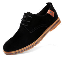 2020 осенние замшевые кожаные мужские туфли oxford повседневная