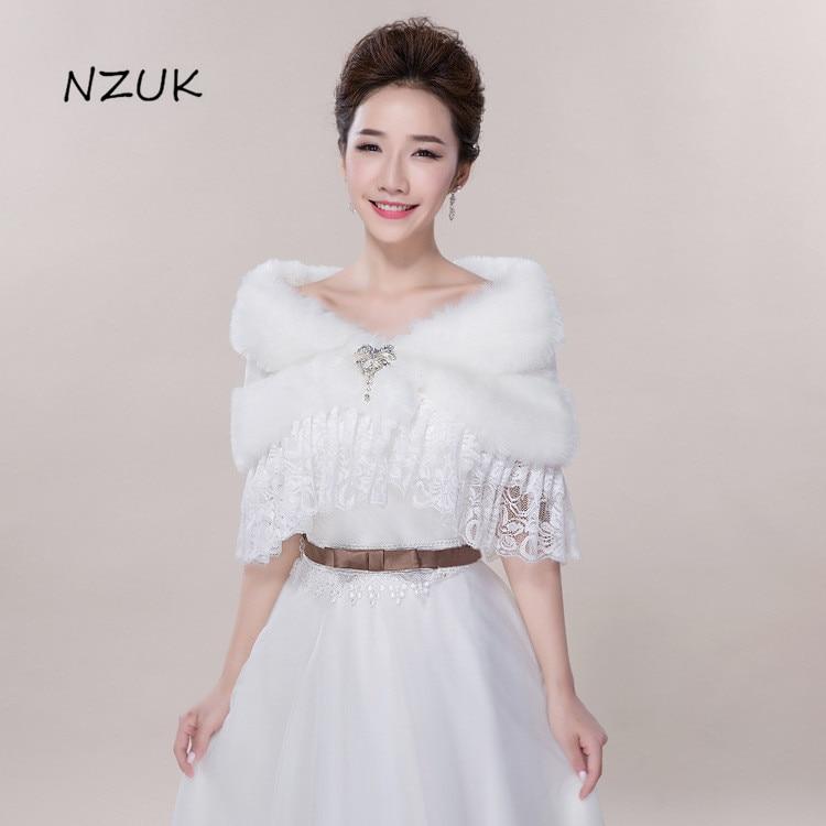 Bride Cape Autumn Winter Jacket Wedding Outerwear Bride shawl Formal Dress Accessories PJ064