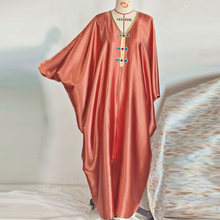 Abaya Дубай Турция hijab мусульманское сатиновое платье мусульманская
