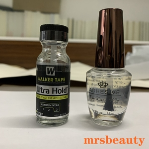 15ml Ultra Hold Glue Men Toupee Tape Hair System Adhesives Brush For Lace Wig/Toupee Soft-bond and 1 Bottle 30ml Remover(China)