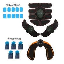 Ems trainer massagem muscular massageador elétrico abs estimulador para quadril abdômen braço abdominal completo trainer