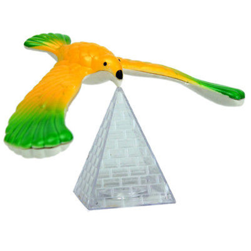 Funny Balancing Eagle With Pyramid Stand Magic Balancing Bird Office Desk Decoration Kids Educational Toy Birthday Gift