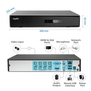 Image 2 - Sannce dvr 1080n cctv câmera, gravador de vídeo, 4/8 peças 2mp, kit de vigilância residencial e visão noturna, à prova d água