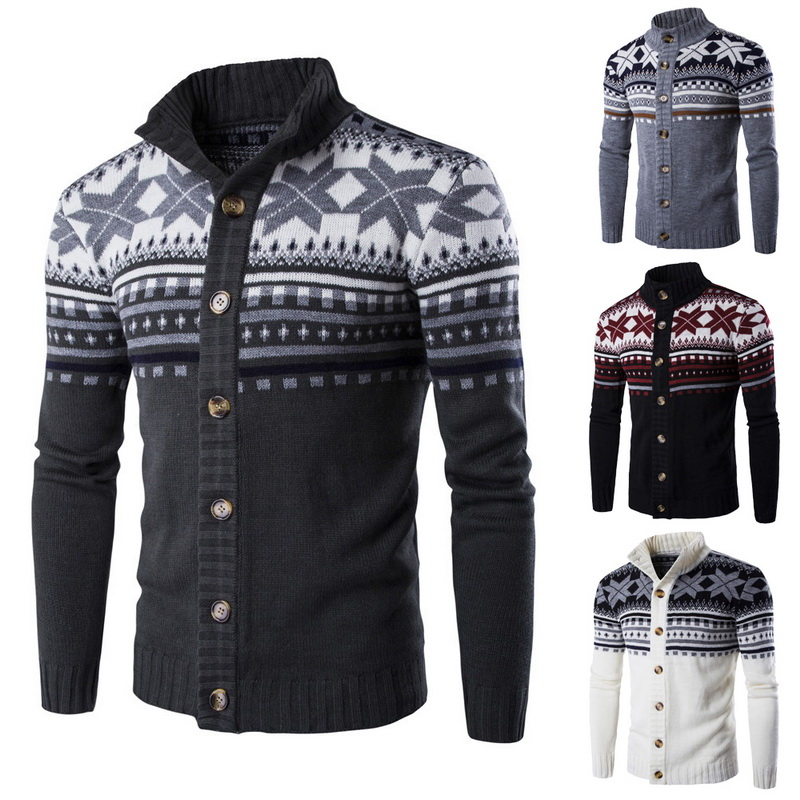 2019 Men Knitted Cardigan Sweaters New Brand Autumn Winter Men's Sweaters Casual Fashionyouth Double-breasted Cardigan Knitwears