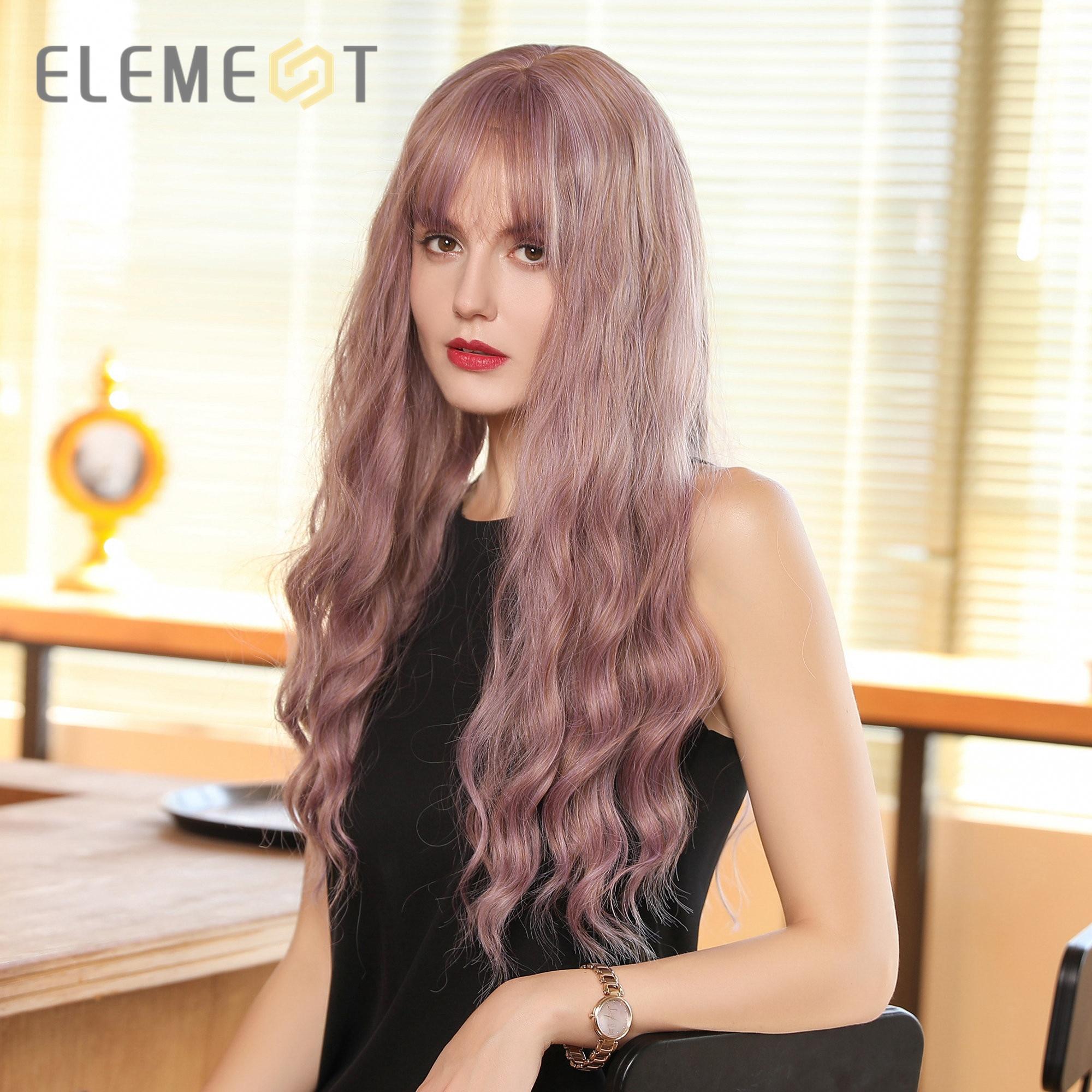 Купить синтетические длинные волнистые волосы смешанные фиолетовые