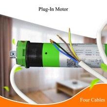 Plug in System Four Cables Tubular Motor for 50 Tube Smart Home Google Home Alexa Compatible via Broadlink
