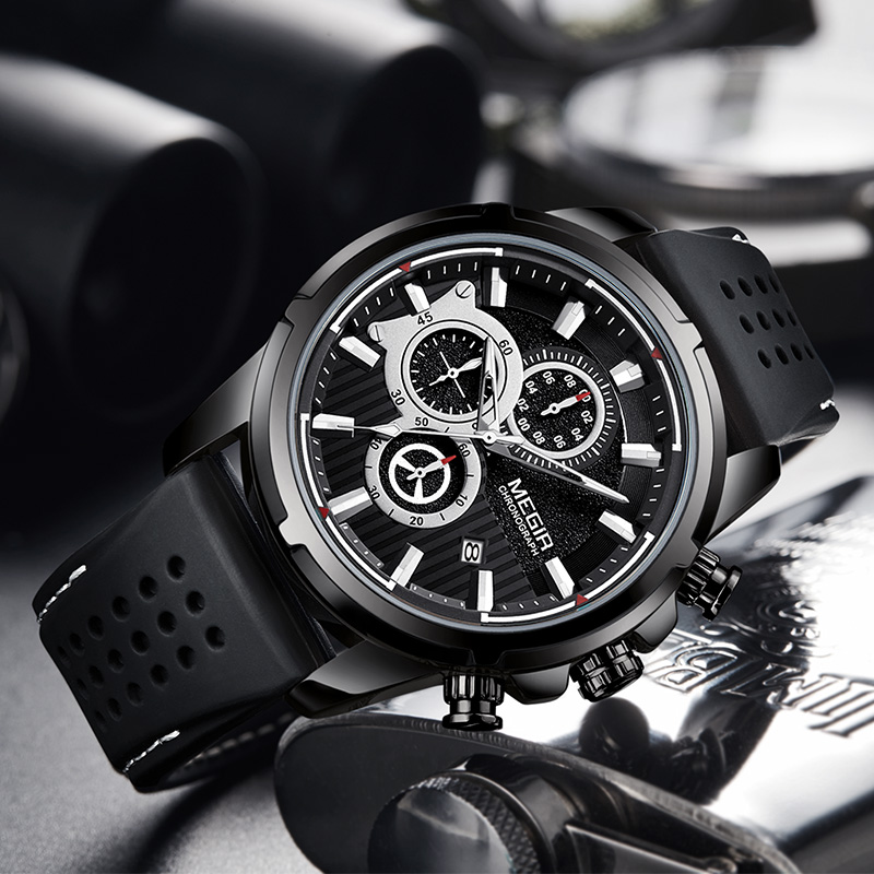 <font><b>MEGIR</b></font> 2019 Mens Watches Top Brand Luxury Casual Watch Men Watch For Men Sport Military Wristwatches relogio masculino erkek saat image