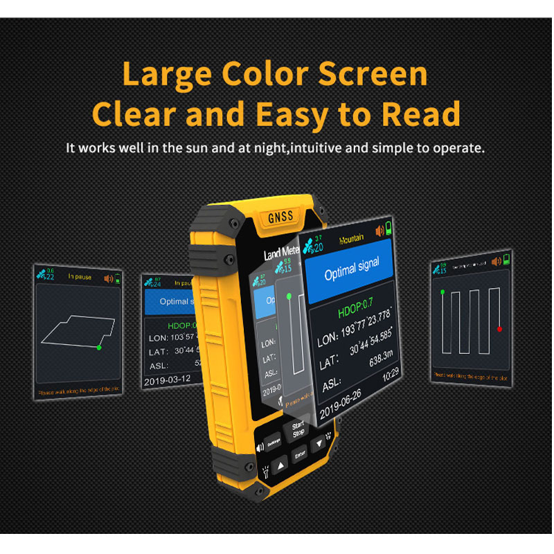 Tools : Land Meter S4 Color Screen GPS Land Meter Surveying Machine Professional GNSS Receiver Area Measurement Land Measure Meter