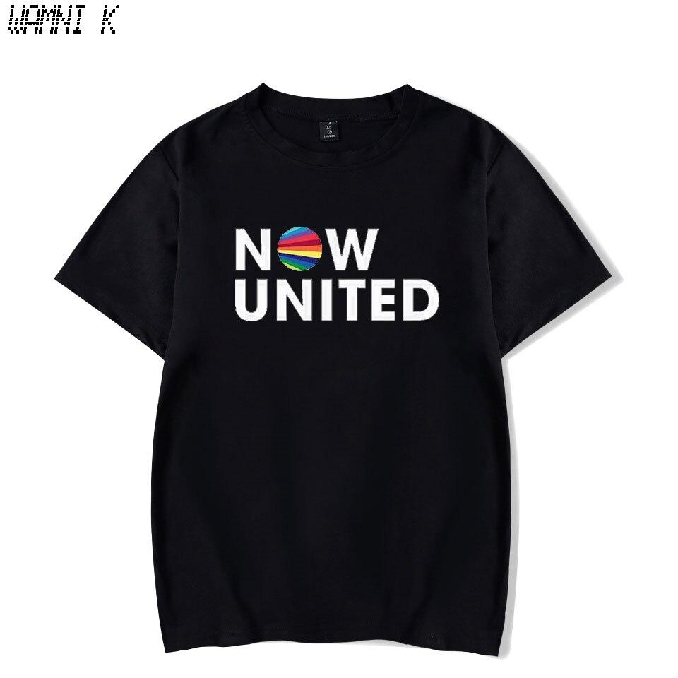 WAMNI Now United - Better Album T Shirt Women Short Sleeve Better Now United Lyrics Women Funny T Shirt Unisex Harajuku Tops