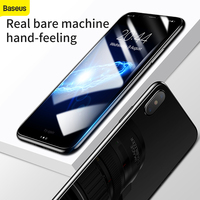 2pcs/lot Front+Back Tempered Glass For iPhone X Screen Protector Film Baseus Ultra slim 9H Glass Film For iPhone X Screen film|tempered glass|9h glass|glass film -