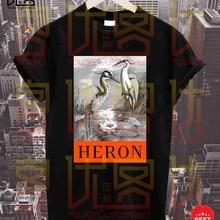 The latest popular Heron T shirt Men's women's Summer 100% C